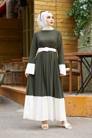 - Piliseli Sandy Elbise 8994-4 Haki