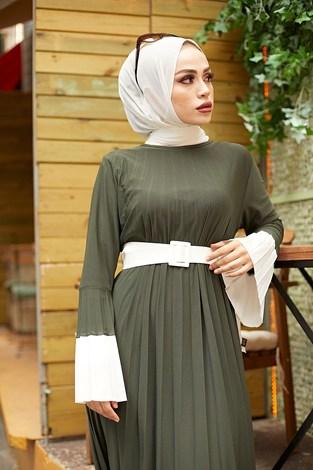 - Piliseli Sandy Elbise 8994-4 Haki (1)