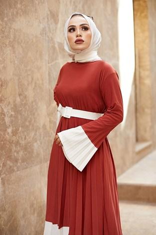 - Piliseli Sandy Elbise 8994-5 Kiremit (1)