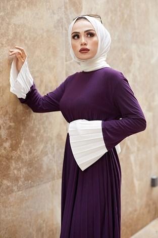 - Piliseli Sandy Elbise 8994-6 Mor (1)