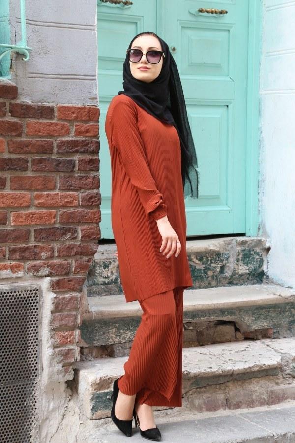 Piliseli Pantolon-Tunik Takım 4765-7
