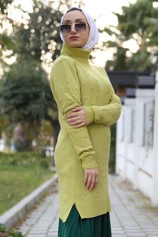 - pıt pıt detaylı triko tunik 5590-06 fıstık yeşili (1)
