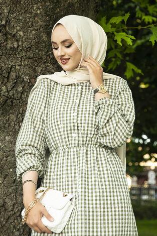 Prenses Elbise 190E-12023 Yeşil - Thumbnail
