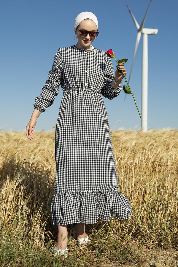 Prenses Elbise 190E-12023 Siyah