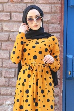 - Puantiye Desenli Elbise 8508-364 (1)