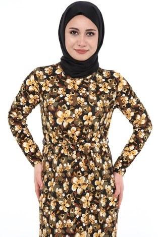 - Çiçek Desenli Elbise 8508-370 (1)