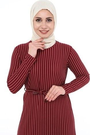 - Çizgi Desenli Elbise 8508-371 (1)