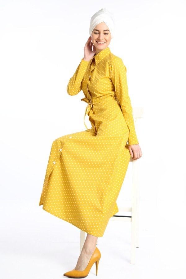 Puantiyeli Elbise 4123-02