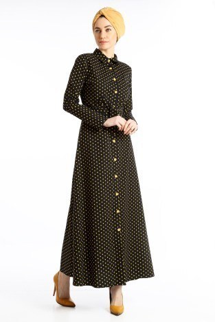 - Puantiyeli Elbise 4123-04