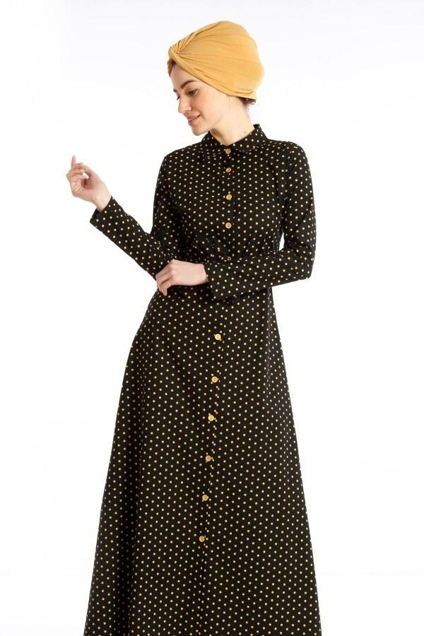 Puantiyeli Elbise 4123-04