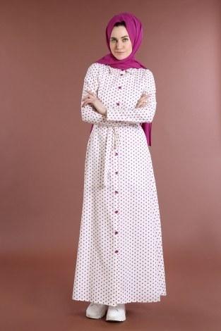 - Puantiyeli Elbise 4123-06