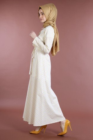 - Puantiyeli Elbise 4123-07