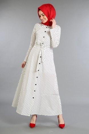 - Puantiyeli Elbise 4123-05