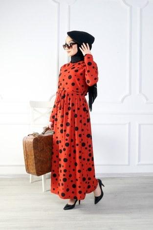 - Puantiyeli Elbise 8508-377 (1)
