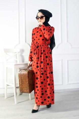 - Puantiyeli Elbise 8508-377