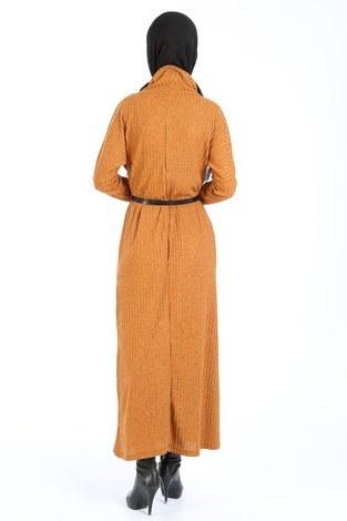 Pul Payet Detaylı Elbise 1389-16 - Thumbnail