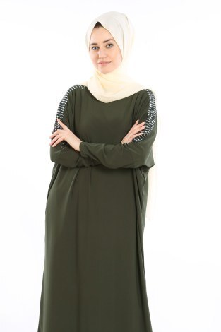 - Pul Payet Detaylı Elbise 1550-05 (1)