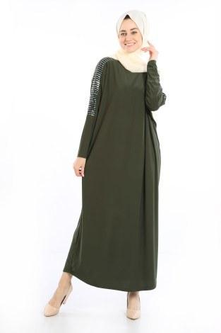 - Pul Payet Detaylı Elbise 1550-05