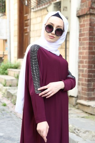 - Pul Payet Detaylı Elbise 1550-12 (1)