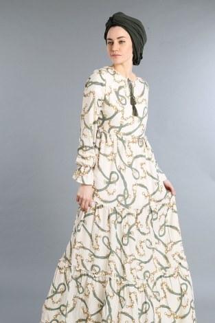 Zincir Desen Elbise 01008-01 - Thumbnail