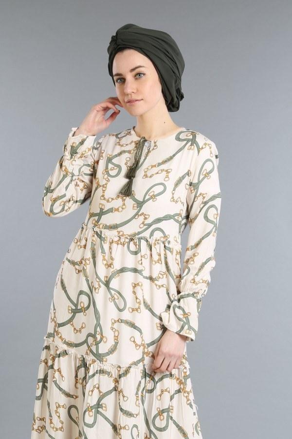 Zincir Desen Elbise 01008-01