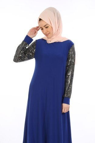 cb2964028a26a Pul Payet Detaylı Elbise 1551-06 - Thumbnail