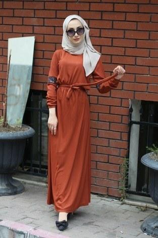 - Pul Payet Detaylı Elbise 4937-16 (1)