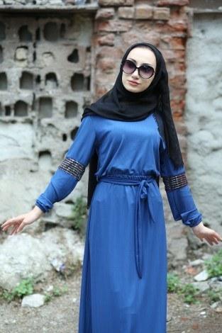 - Pul Payet Detaylı Elbise 4937-08 (1)