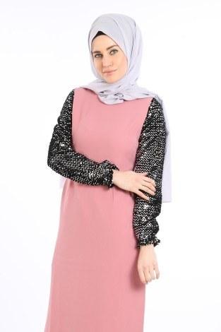 - Pul Payet Detaylı Elbise 5560-02 (1)
