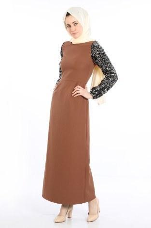 - Pul Payet Detaylı Elbise 5560-03