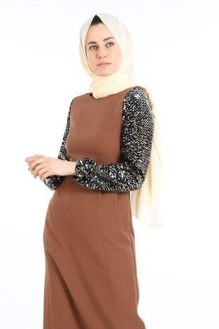 - Pul Payet Detaylı Elbise 5560-03 (1)