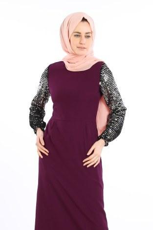- Pul Payet Detaylı Elbise 5560-04 (1)