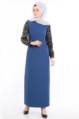 - Pul Payet Detaylı Elbise 5560-05