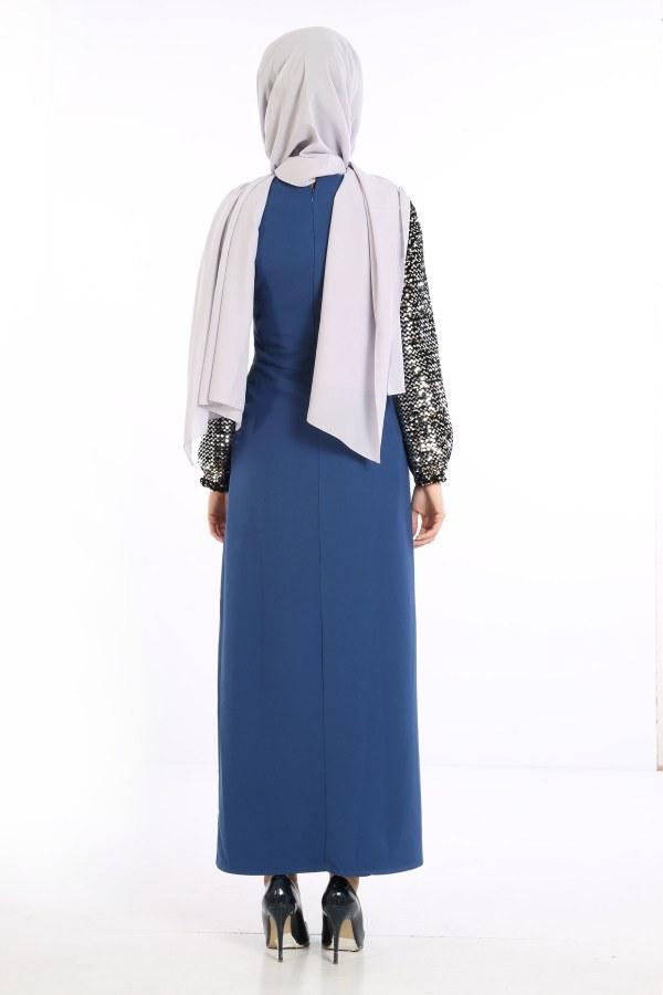 Pul Payet Detaylı Elbise 5560-05