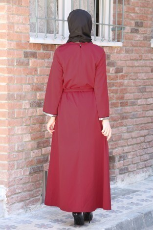 Pul Payet Detaylı Elbise 5603-02 - Thumbnail