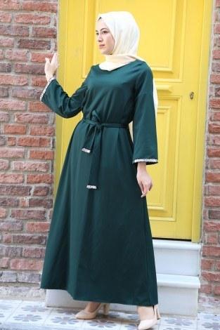 - Pul Payet Detaylı Elbise 5603-04
