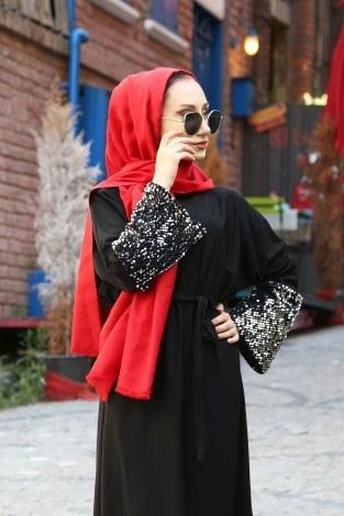 - Pul Payet Detaylı Elbise 8350-01 (1)