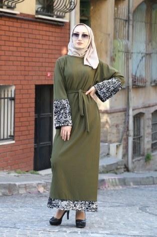 - Pul Payet Detaylı Elbise 8350-03
