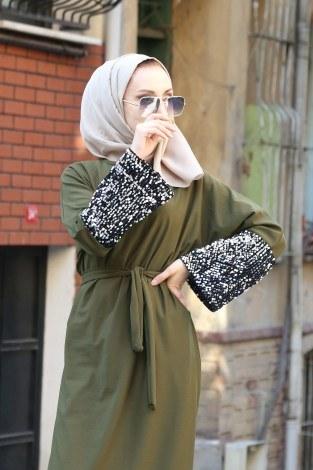 - Pul Payet Detaylı Elbise 8350-03 (1)