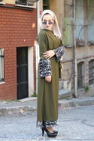 Pul Payet Detaylı Elbise 8350-03 - Thumbnail