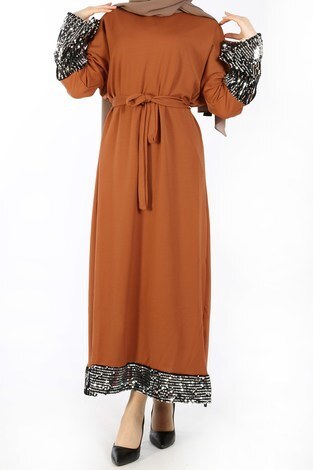 - Pul Payet Detaylı Elbise 8350-06 (1)