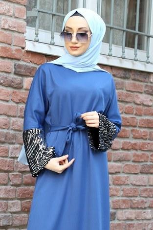 - Pul Payet Detaylı Elbise 8350-07 (1)
