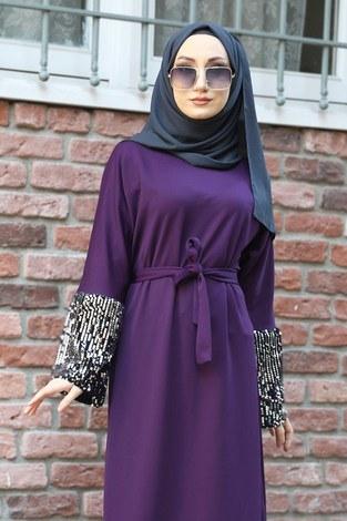 - Pul Payet Detaylı Elbise 8350-09 (1)