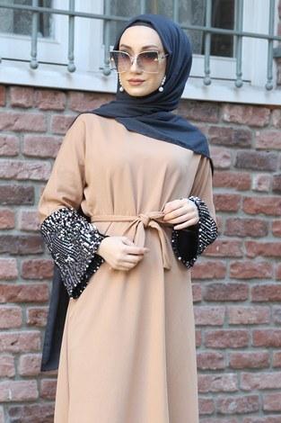 - Pul Payet Detaylı Elbise 8350-08 (1)