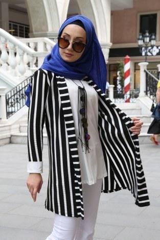 - Çizgili Ceketli Siyah İkili Takım 4892-01 (1)