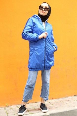 - Pul Payet detaylı yağmurluk mont HBS8869-20 saks