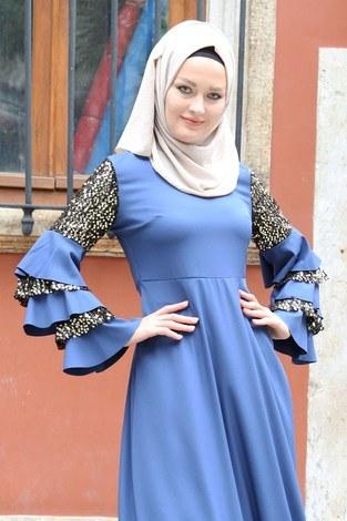 - Pul Payetli Abiye Elbise 5502-08 (1)