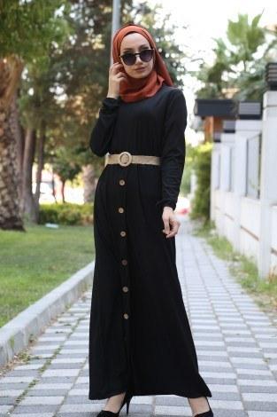 - Hasır Kemerli Elbise 5591-01 (1)