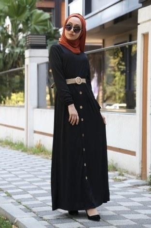 - Hasır Kemerli Elbise 5591-01
