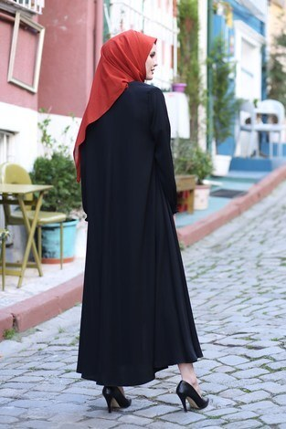 Rabia Ferace 7430-1 Siyah - Thumbnail